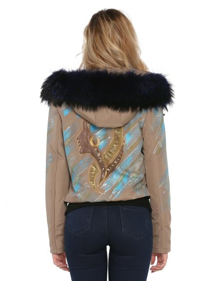 Beige_Fabric_Woman-Jacket-With-Fur