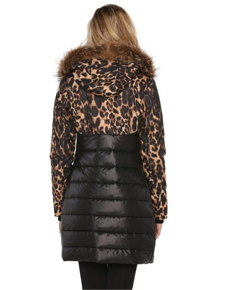 Fabric_Black_And_Leopard_Woman_Parka-With-Fur
