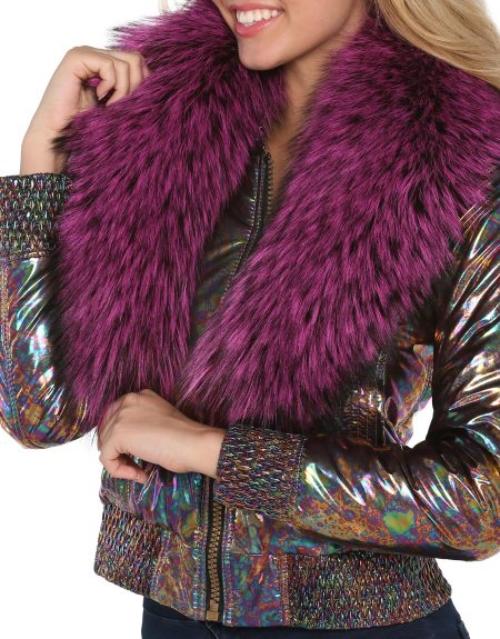 Metalic_Abstract_Flowery_Puffer_Woman_Jacket-With-Fur