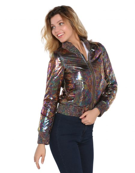 Metalic_Abstract_Flowery_Puffer_Woman_Jacket_With_Fur