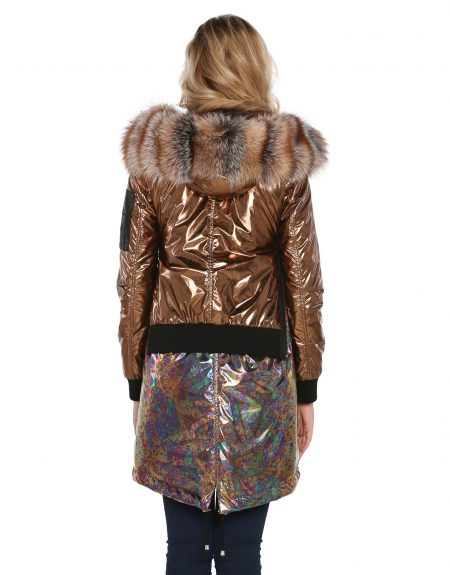 Metalic_Copper_Tone_Puffer_Woman_Jacket_And-Parka-With-Fur