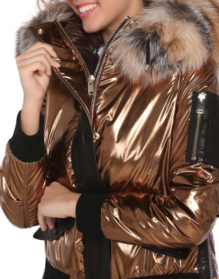 Metalic_Copper_Tone_Puffer_Woman_Jacket_And_Parka-With-Fur