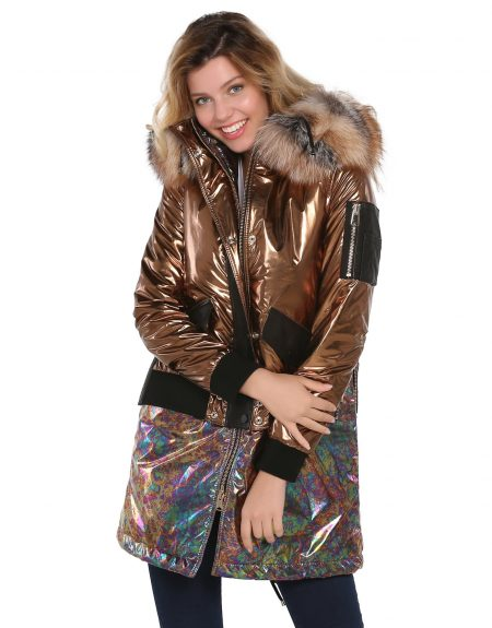 Metalic_Copper_Tone_Puffer_Woman_Jacket_And_Parka_With-Fur