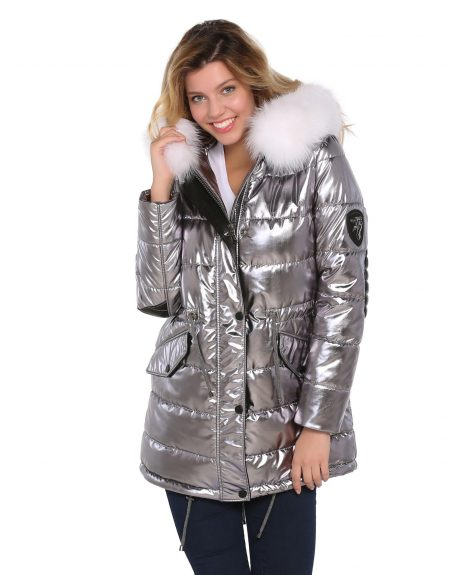 Metalic_Silver_Puffer_Woman_Jacket_With-Fur