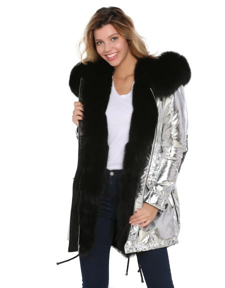Metalic_Silver__Puffer_Woman_Jacket_With_Fur