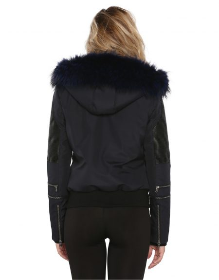 Navy_Blue_Woman_Fabric_Jacket_With_Fur-And-Leather
