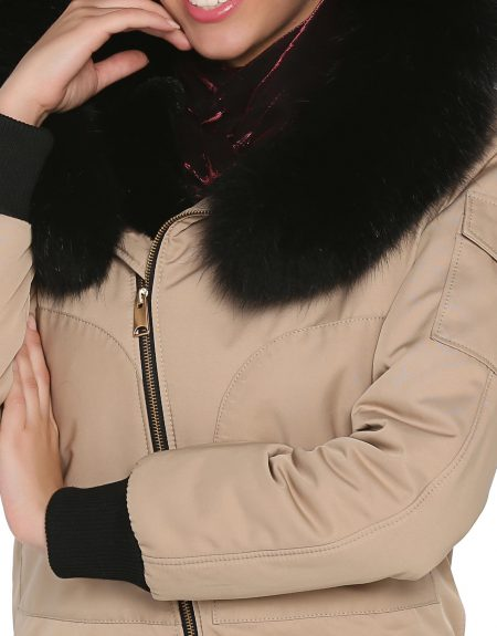 Woman_Camel_Fabric_Jacket-With-Fur-Turbaned