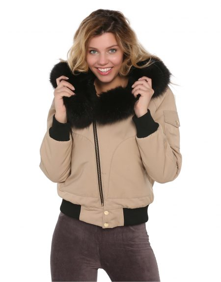Woman_Camel_Fabric_Jacket_With-Fur