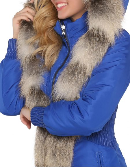 Woman_Fabric_Blue-Parka-With-Fur