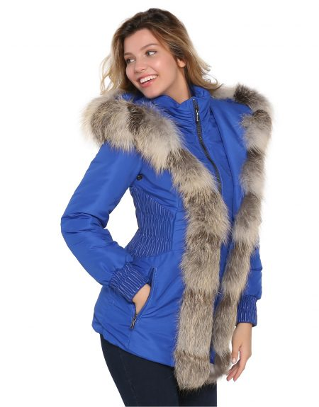 Woman_Fabric_Blue_Parka_With-Fur