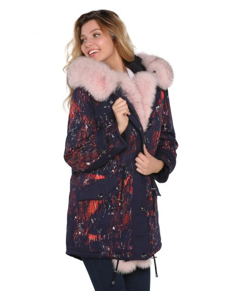 Woman_Fabric_Parka_Hand_Painted_With_Fur
